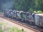 CSX 7848,CEFX 8161,CSX 8373, CSX ????, BN 6838,CSX 7603